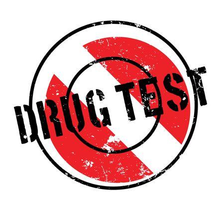 Drug Test rubber stamp Illustration