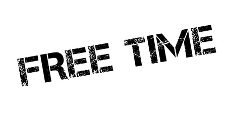 Free Time rubber stamp