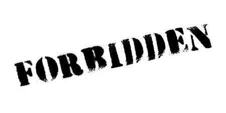Forbidden rubber stamp Stock Vector - 82355116