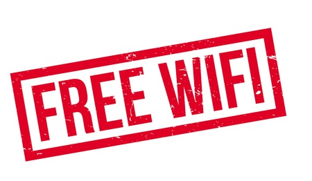 wireless icon: Free Wifi rubber stamp