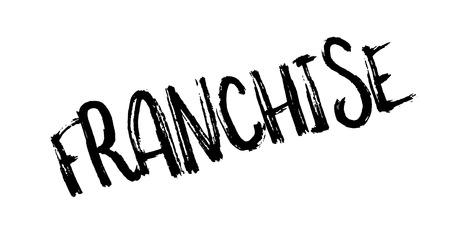 Franchise rubber stamp Stock Photo