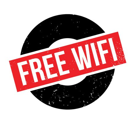 freebie: Free Wifi rubber stamp. Grunge design with dust scratches. Effects can be easily removed for a clean, crisp look. Color is easily changed. Illustration