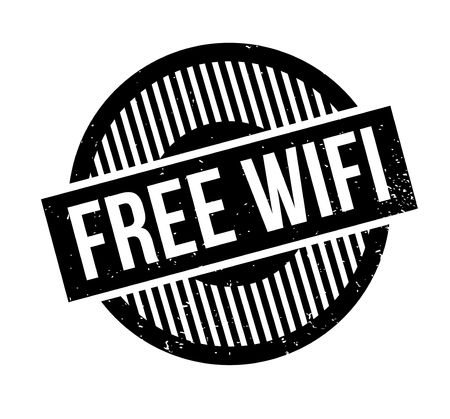 accessing: Free Wifi rubber stamp. Grunge design with dust scratches. Effects can be easily removed for a clean, crisp look. Color is easily changed. Illustration