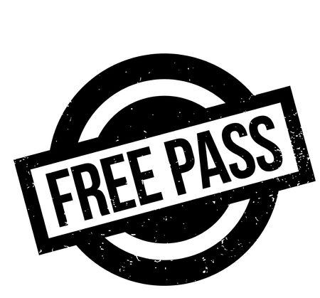 freebie: Free Pass rubber stamp. Grunge design with dust scratches. Effects can be easily removed for a clean, crisp look. Color is easily changed.