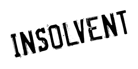 Insolvent rubber stamp