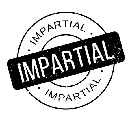 impartiality: Impartial rubber stamp Illustration