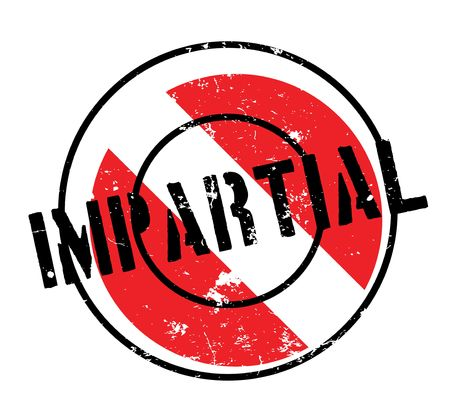 unbiased: Impartial rubber stamp Illustration