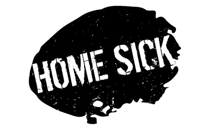 Home Sick rubber stamp Ilustrace