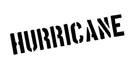 Hurricane rubber stamp