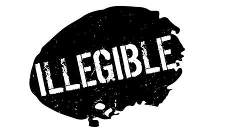 Illegible rubber stamp Stock Vector - 82362405