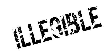 Illegible rubber stamp Stock Vector - 82362517