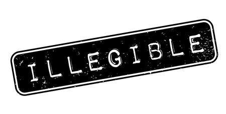 Illegible rubber stamp