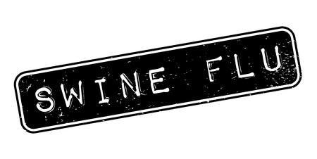 flu virus: Swine Flu rubber stamp