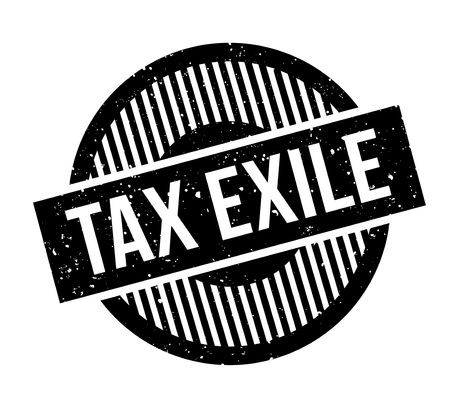 Tax Exile rubber stamp. Grunge design with dust scratches. Effects can be easily removed for a clean, crisp look. Color is easily changed. Çizim