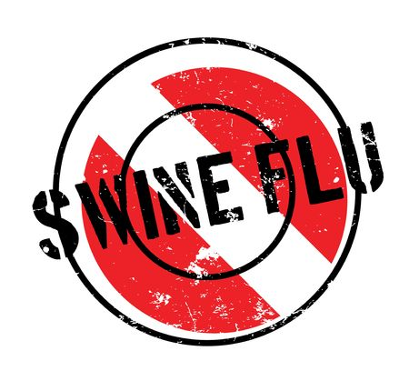 Swine Flu rubber stamp. Grunge design with dust scratches. Effects can be easily removed for a clean, crisp look. Color is easily changed. Illustration