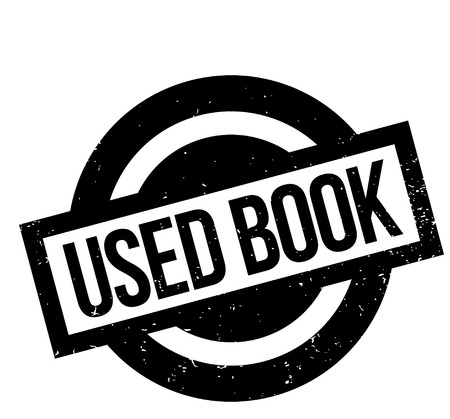 reader: Used Book rubber stamp. Grunge design with dust scratches. Effects can be easily removed for a clean, crisp look. Color is easily changed. Illustration