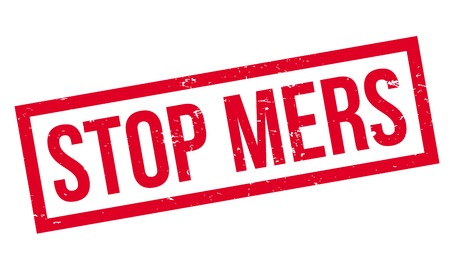 Stop Mers rubber stamp. Grunge design with dust scratches. Effects can be easily removed for a clean, crisp look. Color is easily changed.