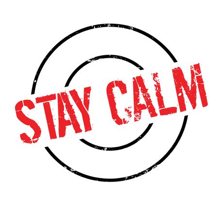panicked: Stay Calm rubber stamp. Grunge design with dust scratches. Effects can be easily removed for a clean, crisp look. Color is easily changed.