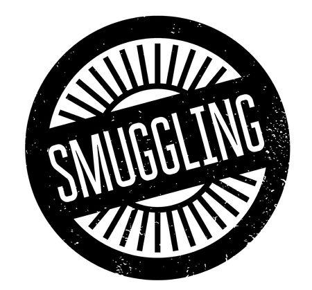 old people: Smuggling rubber stamp Illustration
