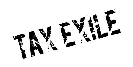 Timbre en caoutchouc Exile fiscal