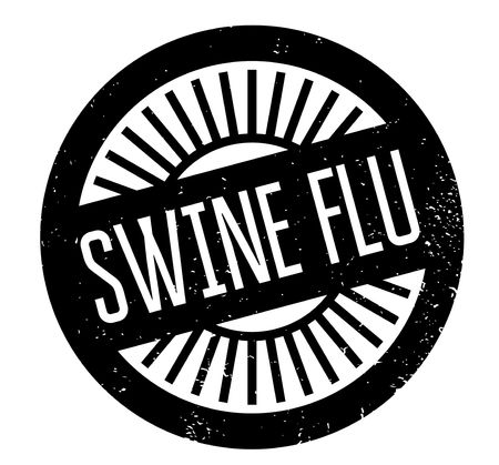 influenza: Swine Flu rubber stamp