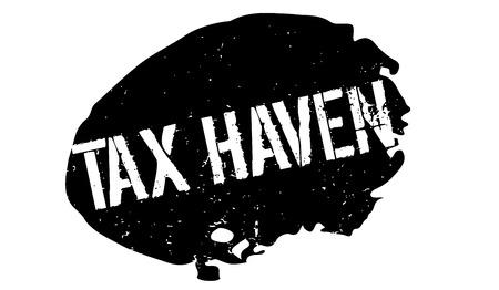 evade: Tax Haven rubber stamp Illustration