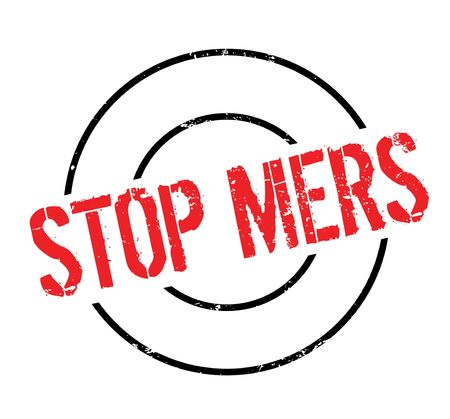 Stop Mers rubber stamp