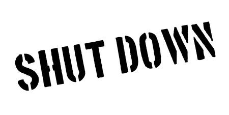 Shut Down rubber stamp