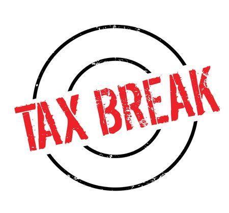 Timbro di gomma di pausa fiscale