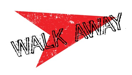 abandon: Walk Away rubber stamp