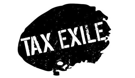 Timbro di gomma di esilio fiscale