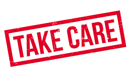 heart disease: Take Care rubber stamp