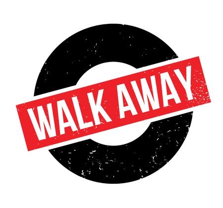 Walk Away rubber stamp