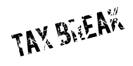 Tax Break rubber stamp grunge design Illustration