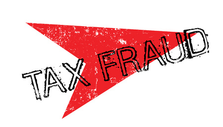 Tax Fraud rubber stamp in grunge design with red arrow
