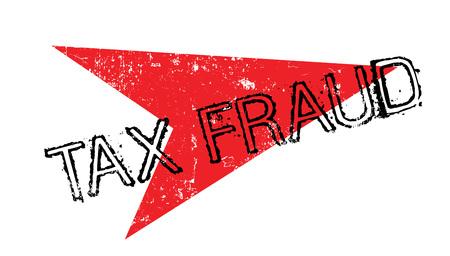 Timbre en caoutchouc fraude fiscale en grunge avec flèche rouge