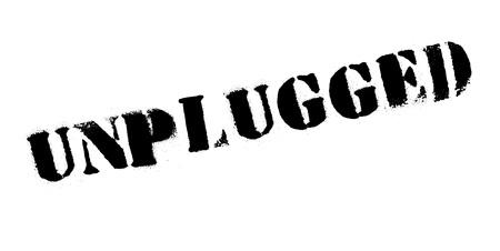 unplug: Unplugged rubber stamp Illustration