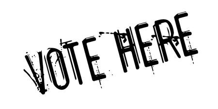 Vote Here rubber stamp Illustration