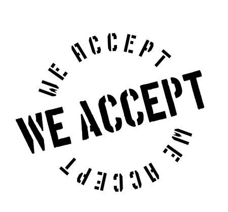 dogma: We Accept rubber stamp Illustration