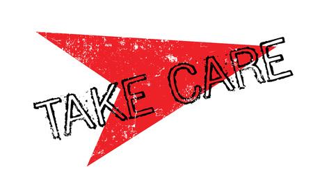 Take Care rubber stamp