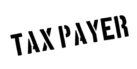 levy: Tax Payer rubber stamp Stock Photo