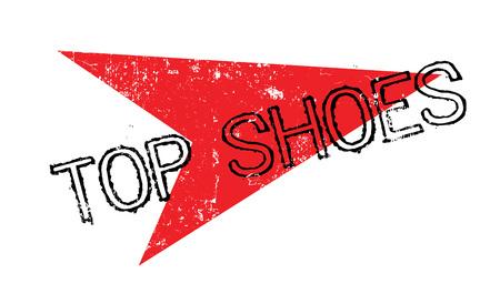 トップ靴ゴム印  イラスト・ベクター素材