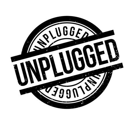 Unplugged rubberen stempel Stock Illustratie