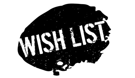 Wish List rubber stamp Illustration