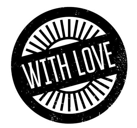 With Love rubber stamp 版權商用圖片 - 82436006