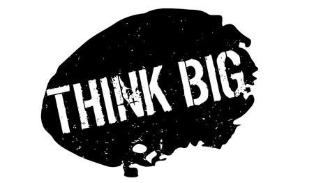 Piense el sello de goma grande