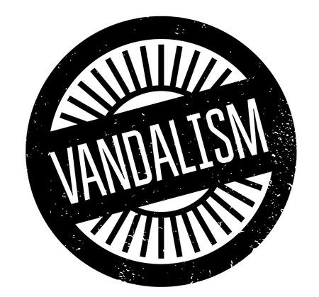 breaking law: Vandalism rubber stamp