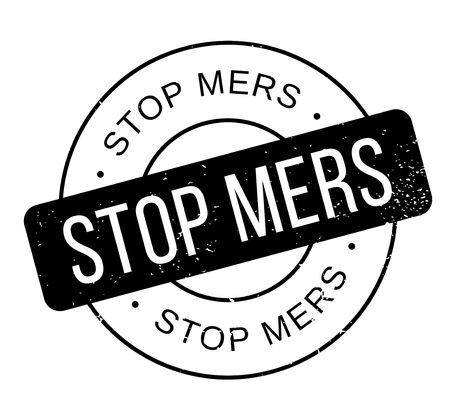 the bacteria signal: Stop Mers rubber stamp