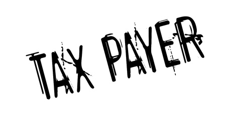 costs: Tax Payer rubber stamp Illustration