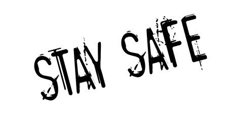 defended: Stay Safe rubber stamp